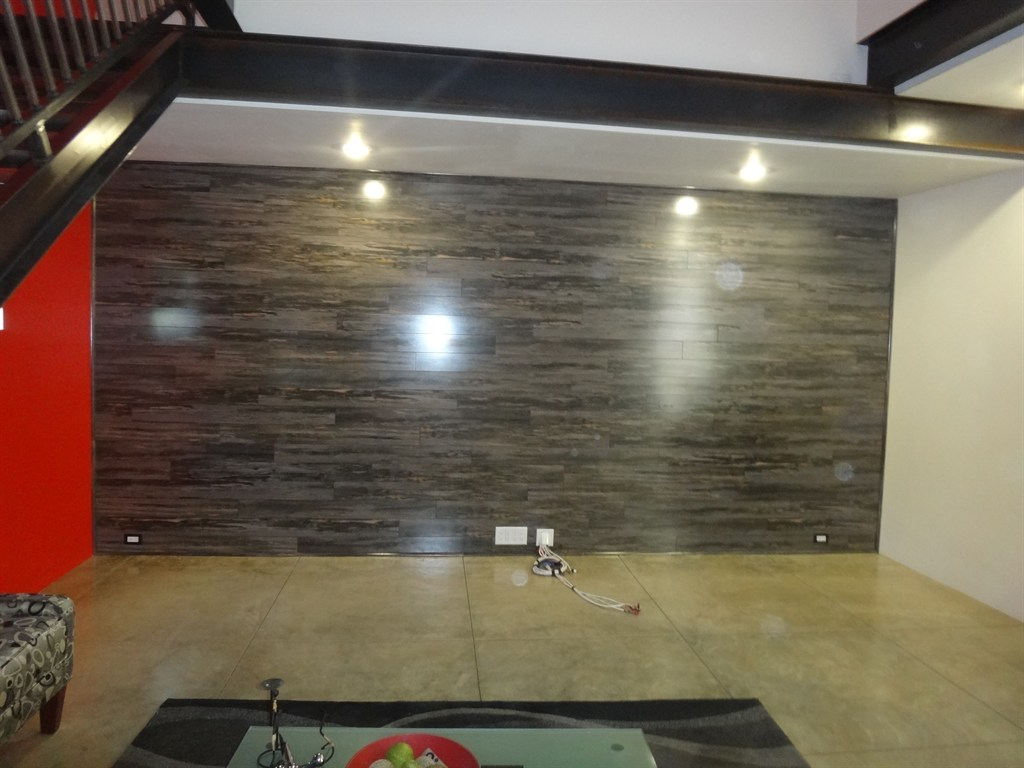 Laminated Vinyl Wallcovering ~ Laminate flooring using walls